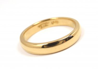 RARE Antique Tiffany & Co 22K Yellow Gold 3mm Wedding Band Ring 4.3g Size 5-1/4