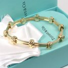 RARE Vintage Tiffany & Co 18K Yellow Gold Love Knot Bracelet 7-1/4""