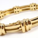 "Rare Vintage 1995 Tiffany & Co 18K Yellow Gold Atlas Link Bracelet 7"" 42g"
