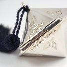 Rare Vintage Tiffany & Co Sterling Silver Hexagon Bamboo Pill Box Spain