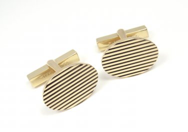 Vintage Tiffany & Co Larter & Sons 14K Yellow Gold Classic Cufflinks 14.6g w/box