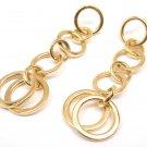 Rare Tiffany & Co 18K Yellow Gold Multi Circle Drop Dangle Earrings w/box