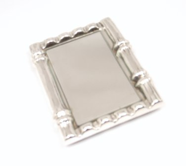Rare Vintage Tiffany & Co. Sterling Silver Bamboo Purse Mirror ITALY