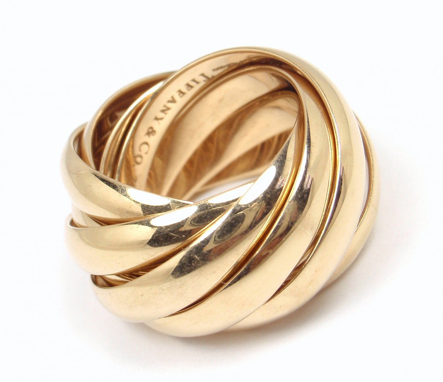 cd0f2e811 $6K Tiffany & Co Picasso Melody 18K Rose Gold Wedding Rolling 9-Band Ring  Size 6