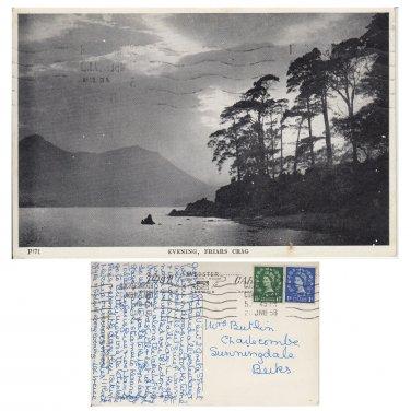 Cumbria. Postcard Cumbria Postcard Evening Friars Crag . Mauritron #5