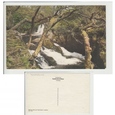 Yorkshire.  Postcard Breezley Falls and Triple Spout Ingleton Item No 17