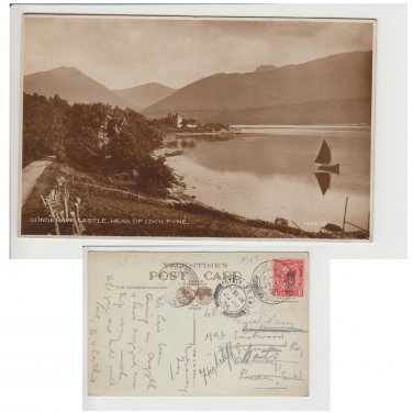 Argyll & Bute Postcard Dunderave Castle Head of Loch Fyne Mauritron Item No. 51