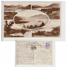 Highlands  Postcard Loch Lomond Multiview Mauritron Item No. 61