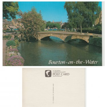 Gloucestershire Postcard The Old Mill Bridge Bourton on the Water Mauritron Item No. 69