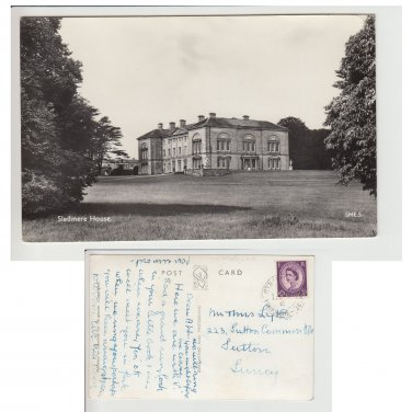 Yorkshire Postcard Sledmere House Mauritron Item No. 88