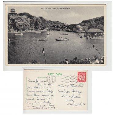 Yorkshire Postcard Peasholm Lake, Scarborough Mauritron Item No. 89