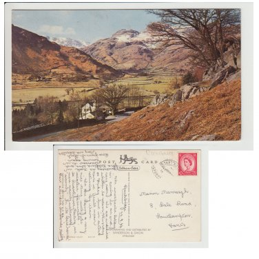 Cumbria Postcard The Langdale Valley. Mauritron # 106