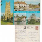 Cambridgeshire Postcard Ely Capital of the Fens Multiview. Mauritron #148
