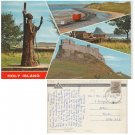 Northumberland Postcard Holy Island 4 Multiviews. Mauritron #150