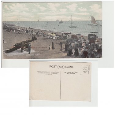Hampshire   Postcard Southsea Beach Looking East. Mauritron #151