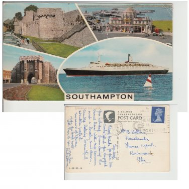 Hampshire   Postcard Southampton Multiview. Mauritron #173