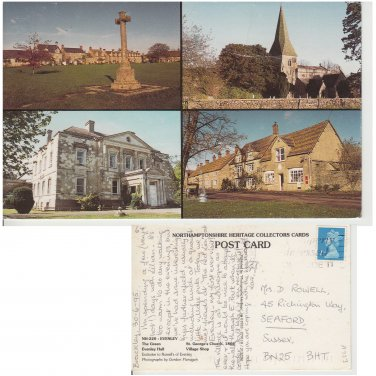 Northamptonshire Postcard Evenly Multiview. Mauritron #182