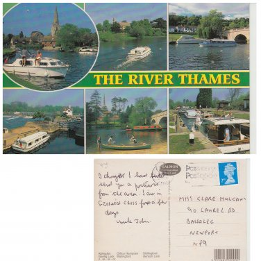 English Counties Postcard The River Thames Multiview. Mauritron #187