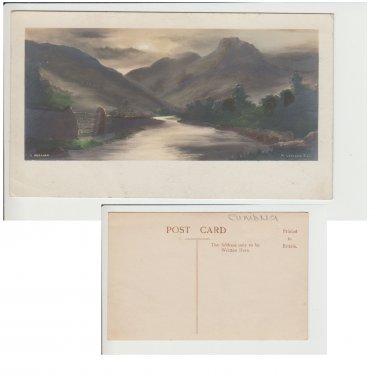 Cumbria Postcard Langdale Pikes. Mauritron #204