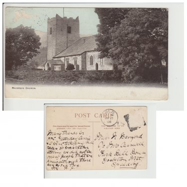 Cumbria Postcard Grasmere Church. Mauritron #211