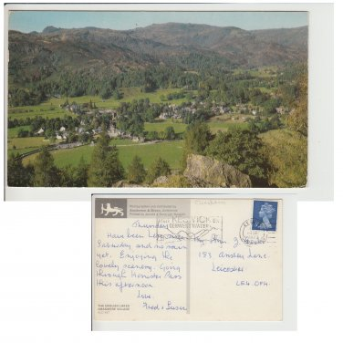 Cumbria Postcard The English Lakes Grasmere Village. Mauritron #212