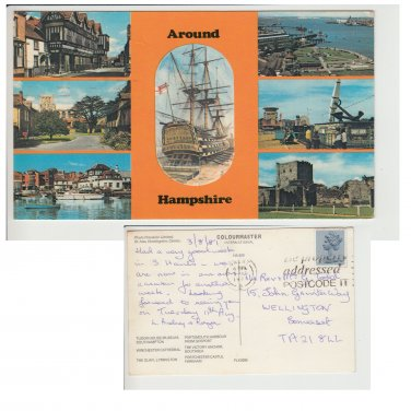Hampshire   Postcard Around Hampshire Multiview. Mauritron #215