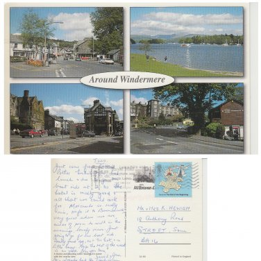 Cumbria Postcard Around Windermere Multiview. Mauritron #251