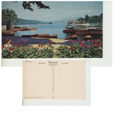 Cumbria Postcard Lake Windermere from Bowness. Mauritron #267