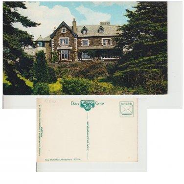 Cumbria Postcard Grey Walls Hotel Windermere. Mauritron #272
