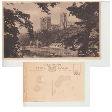 County Durham Postcard Durham Cathedral from the Banks. Mauritron #289