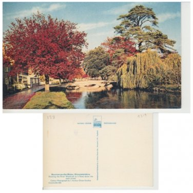 Gloucestershire Postcard Bourton on the Water. Mauritron #319