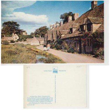 Gloucestershire Postcard Arlington Row, Bilbury. Mauritron 323