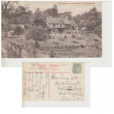 Gloucestershire Postcard The Museum at the Roman Villa, Chedworth. Mauritron 324