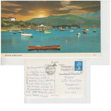 Gwynedd Postcard Sunrise at Barmouth. Mauritron 328