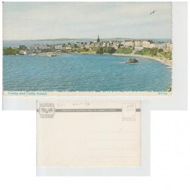 Pembrokeshire Postcard Tenby and Caldy Island Mauritron 341