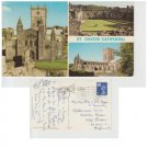 Pembrokeshire Postcard St. David's Cathedral Multiview Mauritron 347