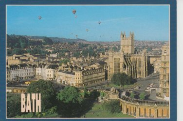 Bath view by Balloon  Postcard. Mauritron PC377-213569