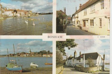 Bosham Multiview (stained) Postcard. Mauritron PC434-213829
