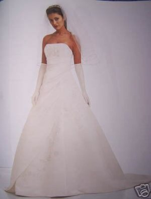 Strapless,Beaded,Embroided,LaceUp Gown,Sz 10 Ivory NWT