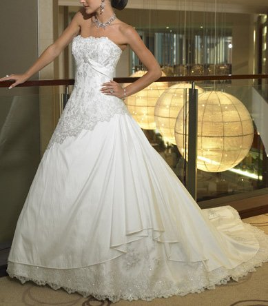 2007Sexy New Wedding dress/gown & bridesmaid size freed
