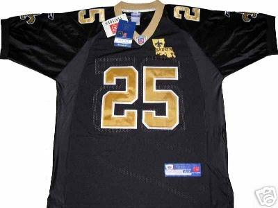 REGGIE BUSH #25 NEW ORLEANS SAINTS NFL JERSEY Size 48