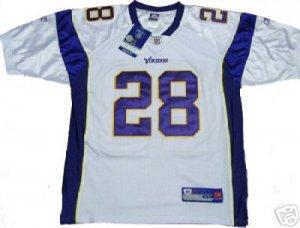 Peterson #28 Minnesota Vikings NFL White Jersey 52
