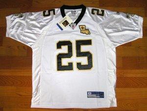 NEW NFL JERSEY New Orleans Saints BUSH#25 White size 50
