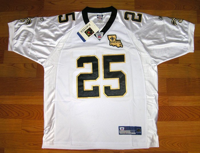 NEW NFL JERSEY New Orleans Saints BUSH#25 White size 54