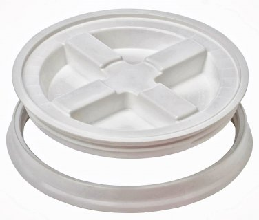 Gamma Seal Screw On Lids Fits 3.5 5 7 Gallon Buckets Food Storage Container Airtight Survival WHITE