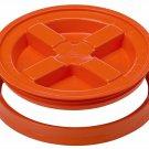 Gamma Seal Screw On Lids Fits 3.5 5 7 Gallon Buckets Food Storage Container Airtight Survival ORANGE
