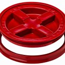 Gamma Seal Screw On Lids Fits 3.5 5 7 Gallon Buckets Food Storage Container Airtight Survival RED
