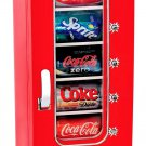 Retro Coca Cola 10 Can Vending Machine Mini Refrigerator Vintage Fridge Perfect for Man Cave Office