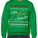 Ugly Christmas Sweater, Ugly Sweater, Oh Snap Gingerbread Christmas Sweatshirt