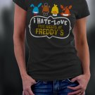 Friday Night At Freddy's, Faz Four, FNAF, I Hate Love Five Nights At Freddy's Shirt